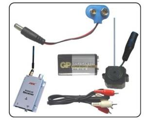 Комплект миниатюрной беспроводной видеокамеры для скрытого наблюдения