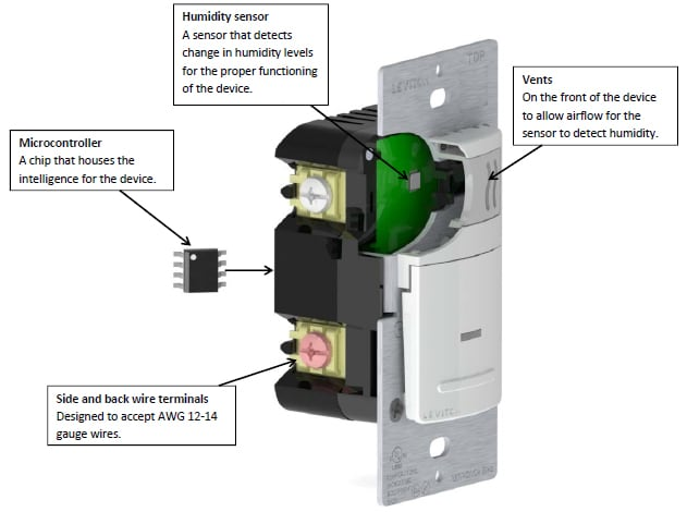 Leviton Humidity Sensor and Fan Control Features