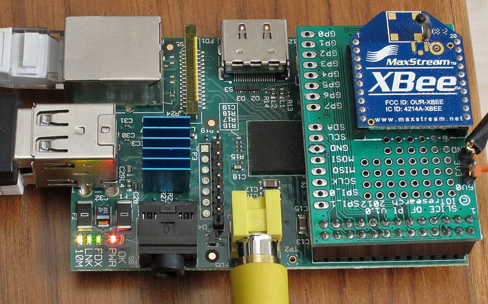 Адаптер ZigBee сети с установленным радиомодемом