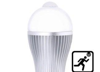 Лампочка с датчиком движения
