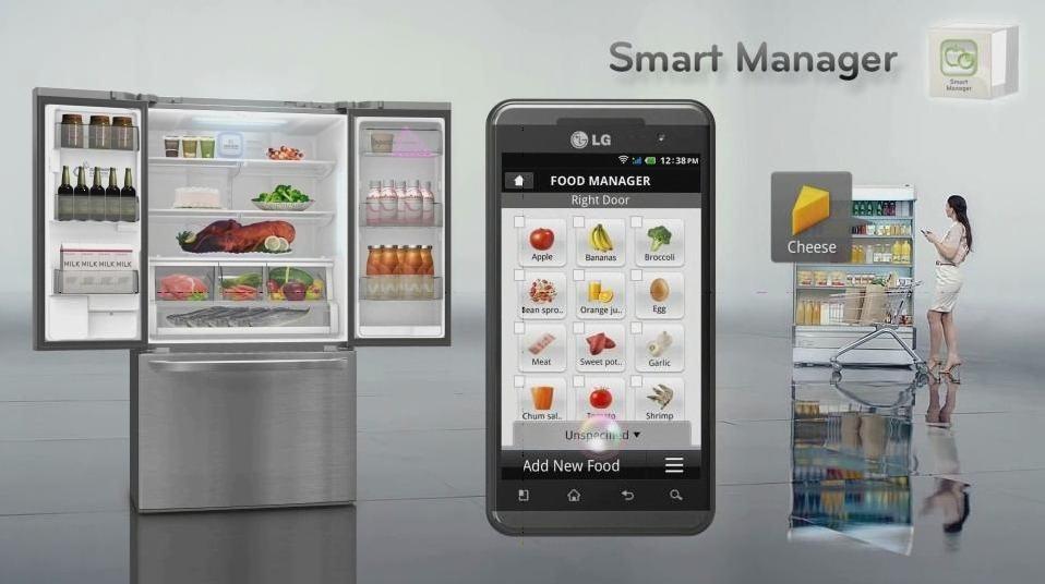 Управление умным холодильником со смартфона