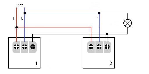 Параллельное подключение датчиков движения к осветительному прибору