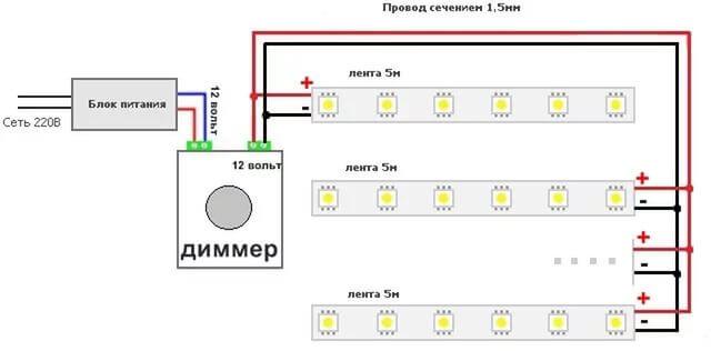 Диммер для светодиодных ламп и лент