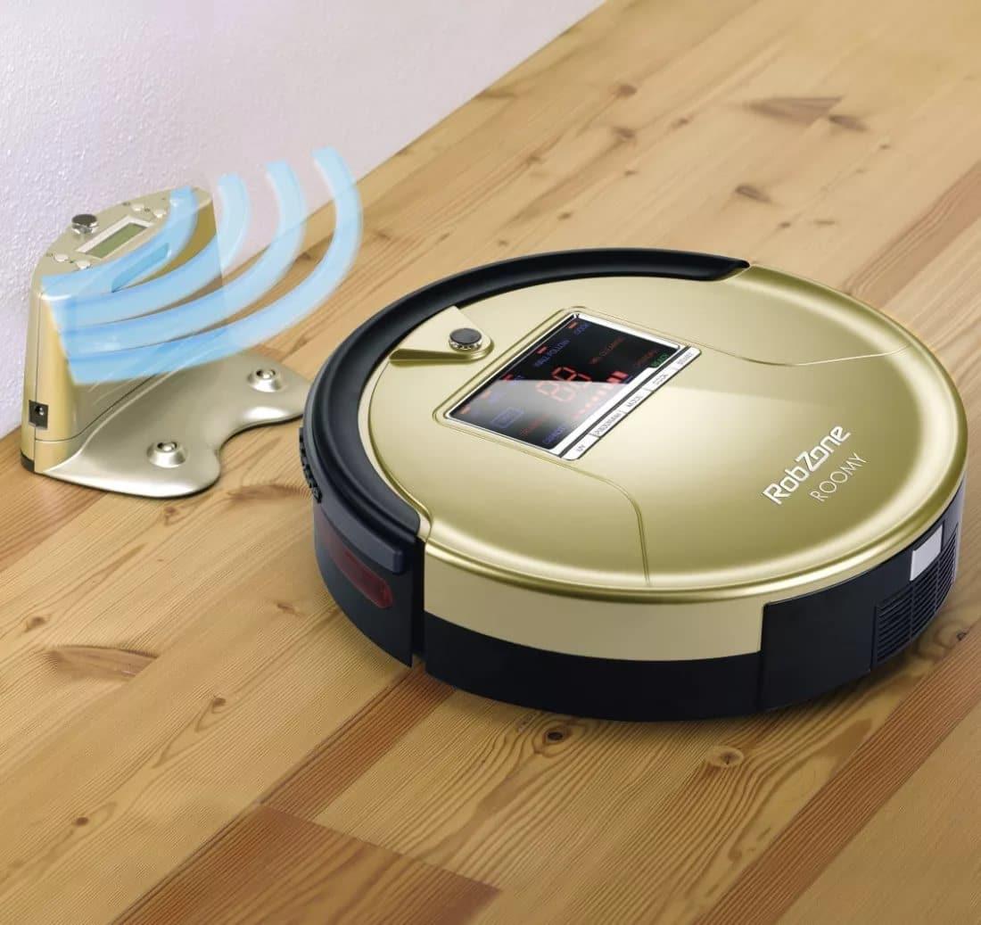 Робот пылесос сам ищет зарядное устройство